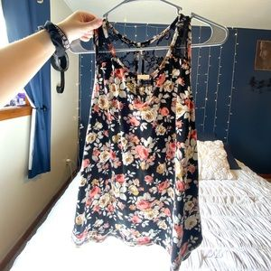 Floral and Lace Tank Top